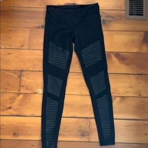 Black Alo Legging with Sheer Panels